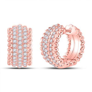Rose Gold 3/4CT-DIA HOOP EARRING - Crestwood Jewelers