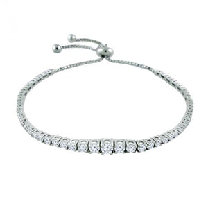 14K Graduated Diamond Tennis Bolo Bracelet - Crestwood Jewelers