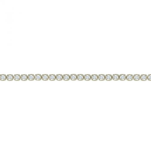 14k Diamond Beaded Tennis Bracelet 1.5 CTTW