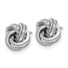 14K Polished Glimmer Infused Knot Earrings