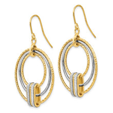 Leslies 14k Two-Tone Glimmer Infused Shepherd Hook Earrings - Crestwood Jewelers
