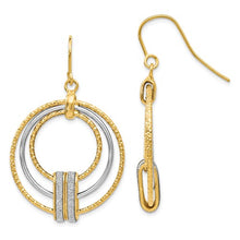 Leslies 14k Two-Tone Glimmer Infused Shepherd Hook Earrings