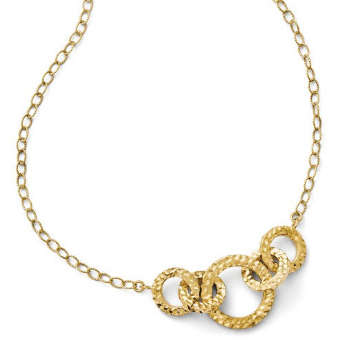 14k Fancy Diamond-Cut Necklace