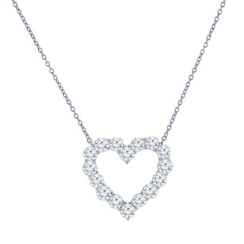 14K 1.00 CTTW Diamond Heart Necklace - Crestwood Jewelers