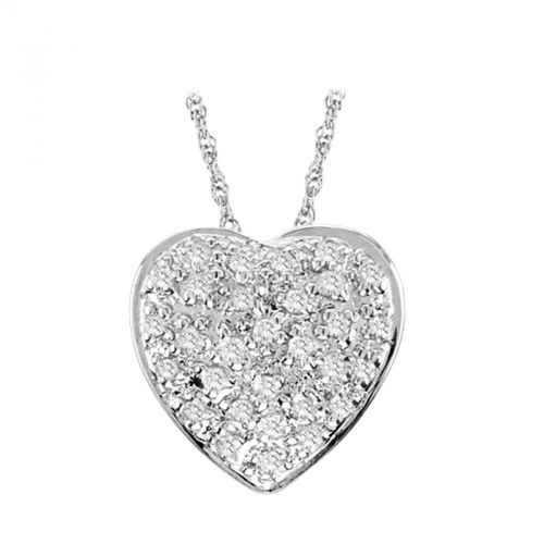 14K Diamond Pave Heart - Crestwood Jewelers