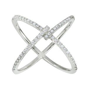 14k Diamond Trend X Ring - Crestwood Jewelers