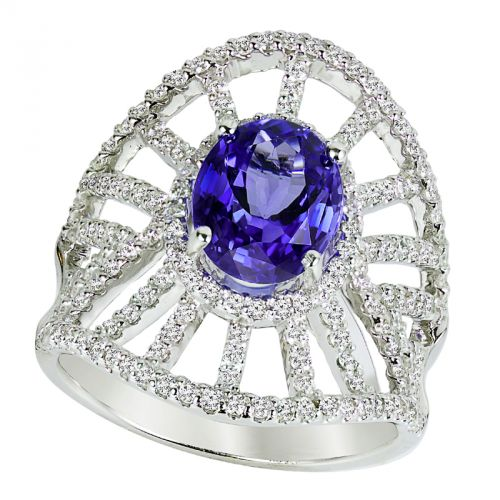 14k Tanzanite And Diamond Ring - Crestwood Jewelers