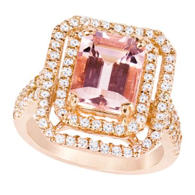 14k Morganite And Diamond Ring - Crestwood Jewelers