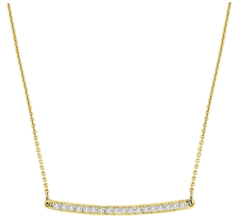 14k Diamond Bar Necklace - Crestwood Jewelers