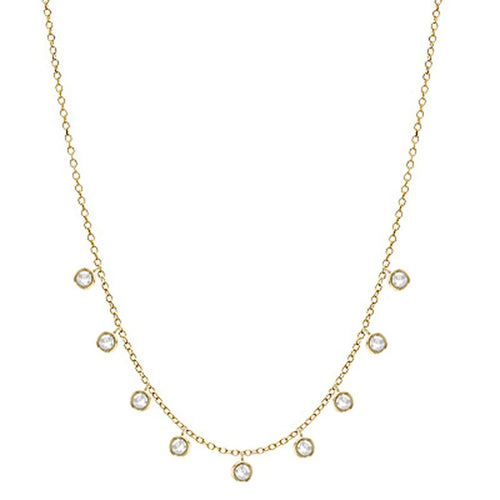 14K 1/4 CTTW Diamond Cleopatra Necklace