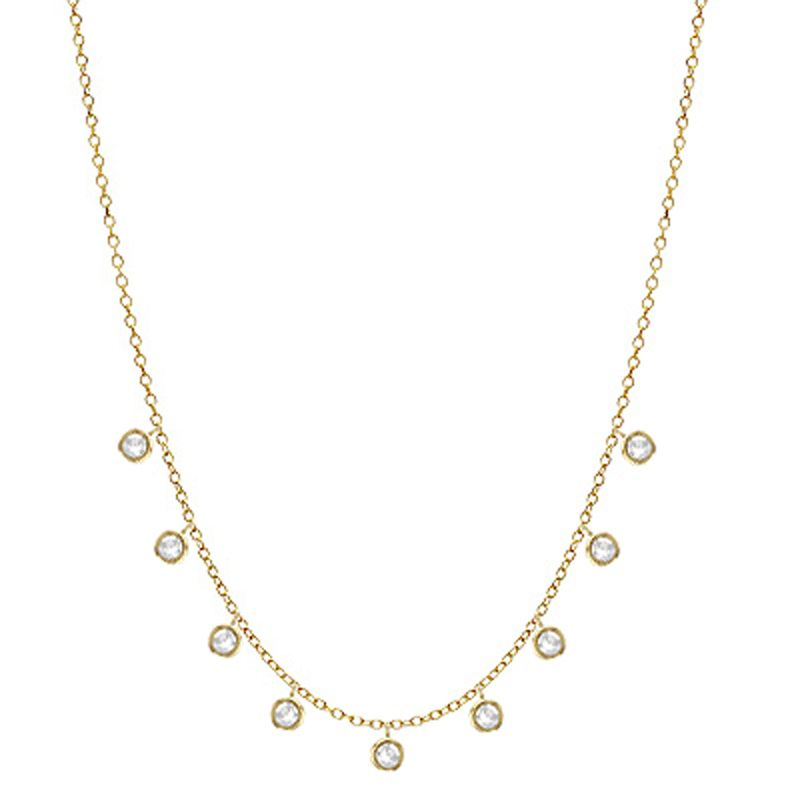 14K 1/4 CTTW Diamond Cleopatra Necklace - Crestwood Jewelers