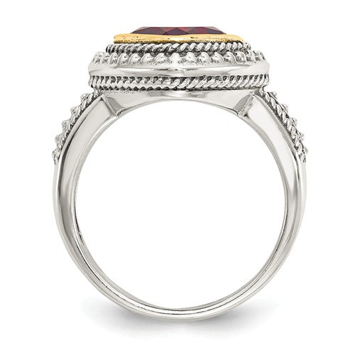 Sterling Silver With 14k Garnet Ring - Crestwood Jewelers
