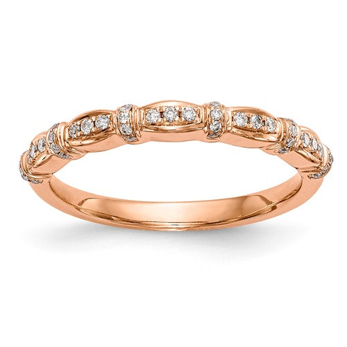 14K Rose Gold Diamond Band - Crestwood Jewelers