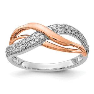 14K White And Rose Gold Diamond Ring - Crestwood Jewelers