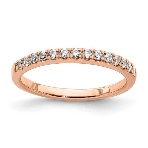 14k Rose Gold Diamond Wedding Band - Crestwood Jewelers