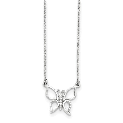 14k Gold Polished Butterfly Necklace - Crestwood Jewelers
