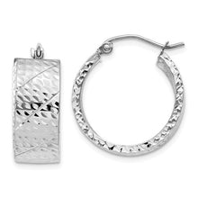 14k Diamond Cut Hoop Earrings - Crestwood Jewelers