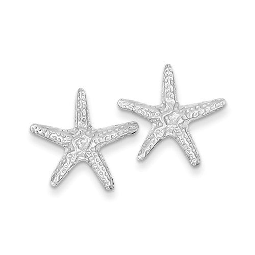 14k White Gold Starfish Post Earrings - Crestwood Jewelers