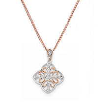 14K White Gold & Rose Rhodium Diamond Necklace - Crestwood Jewelers
