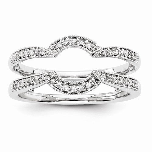 14k White Gold Diamond Ring Wrap
