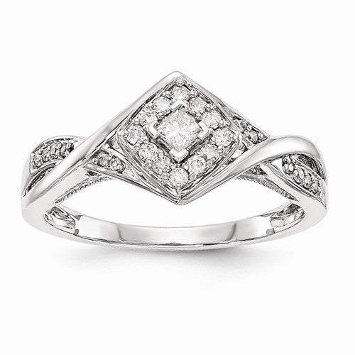 Princessa 14K Diamond Engagement Ring - Crestwood Jewelers