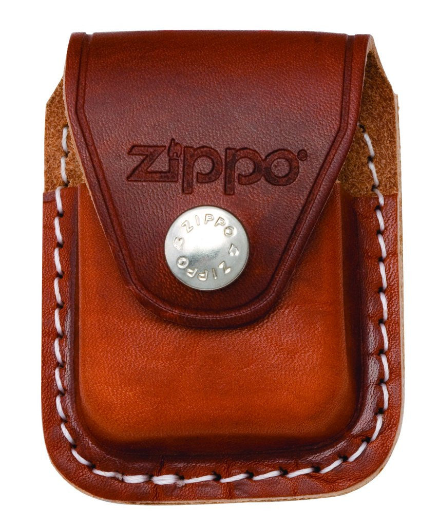 Zippo Brown Leather Lighter Pouch, Metal Belt Clip