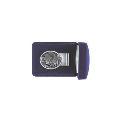 Buffalo Money Clip Oval. This money clip is made with super spring steel. It will hold one bill or a giant stack!