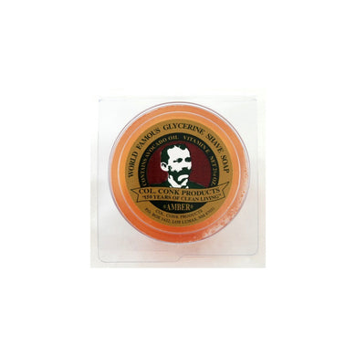COL CONK AMBER GLYCERINE SHAVE SOAP #114