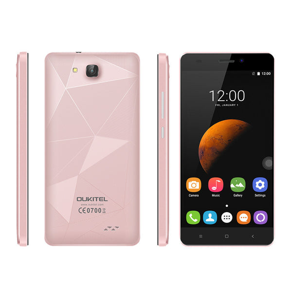 "Oukitel C3 3G WCDMA 5.0"" 1280x720 Android 6.0 MT6580 Quad Core 1.3GHz 5.0MP 1G RAM 8G ROM - PickeDGadgeT"