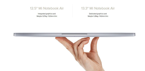 Xiaomi Mi Notebook Air Intel Core M3-6Y30 12.5 inch Windows 10 Home - Merimobiles
