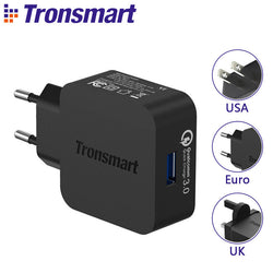 Tronsmart WC1T USB Charger with Type-C /Micro USB Cable Quick Charge 3 - PickeDGadgeT
