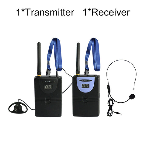 Custom Digital Wireless Tour Guide, Simultaneous Translation,2.4GHz HDCD transmission audio effect 1transmitter 1receiver - PickeDGadgeT