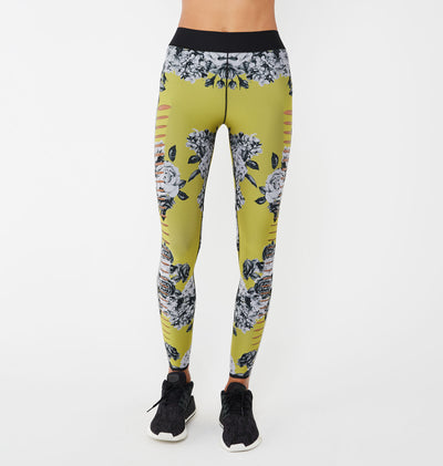 Silk Slash Posey Print Legging-thumbnail