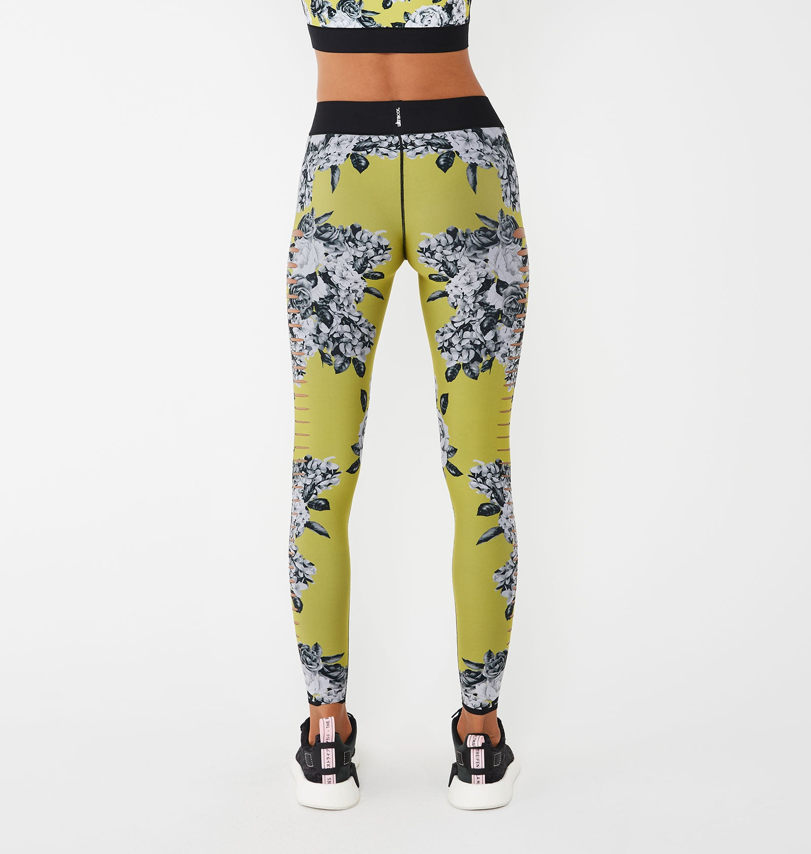 Silk Slash Posey Print Legging