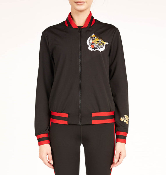 Silk Collegiate Bomber Jacket
