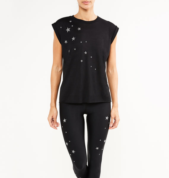 Swarovski® 5 Star Rolled Up Tee