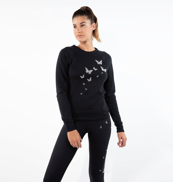 Butterfly Sweatshirt with Swarovski® Crystals