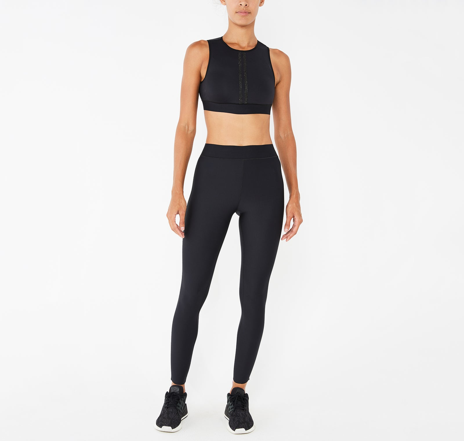 Level Fit Parallel Swarovski® Crop Top