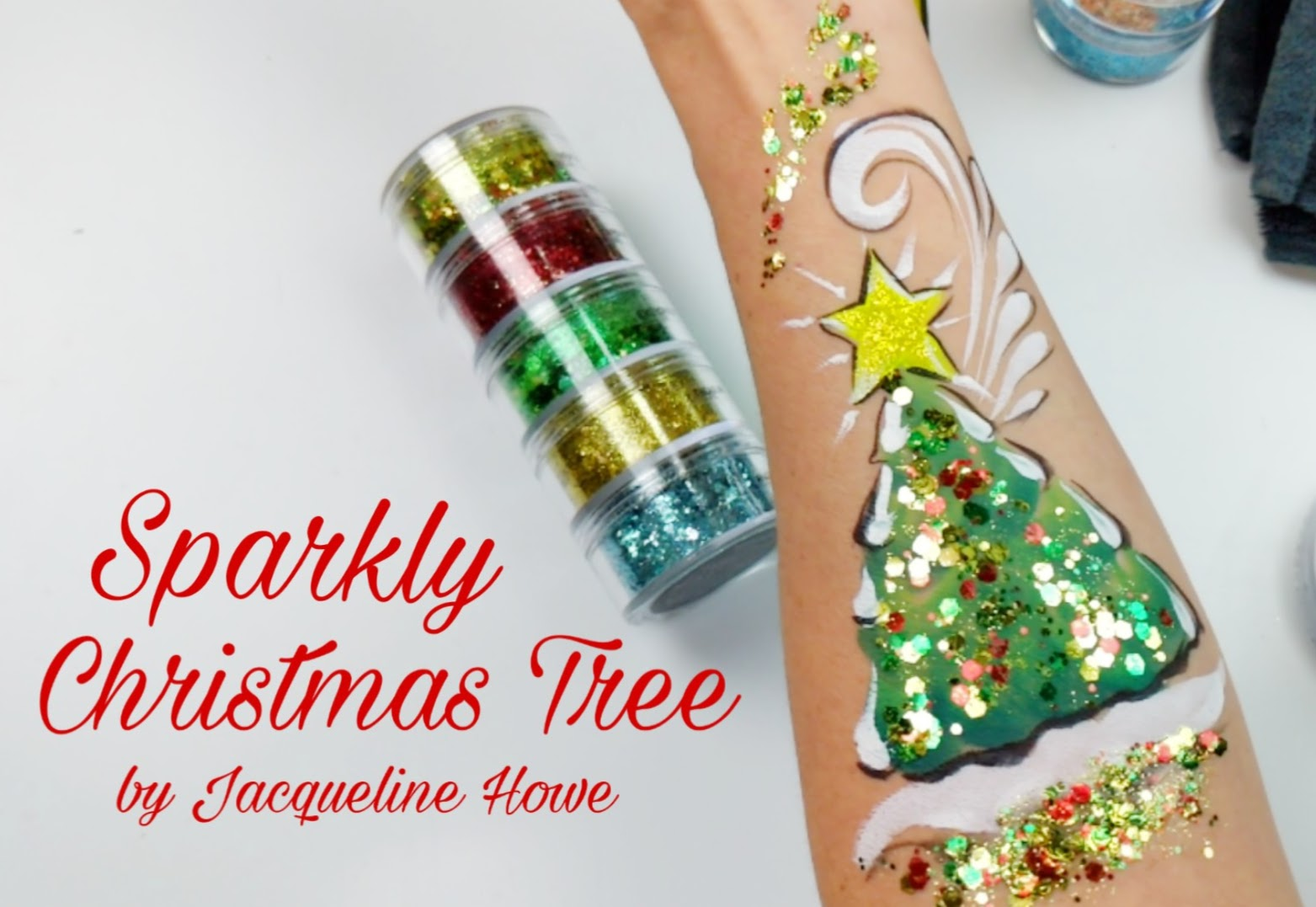 Sparkly Christmas Tree Video using VIVID Glitter