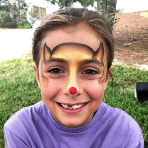 Rudolf Red Nose Face Paint
