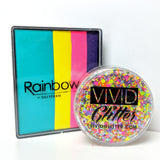 VIVID Glitter Aloha Rainbow Cake Silly Farm Mendoza match set