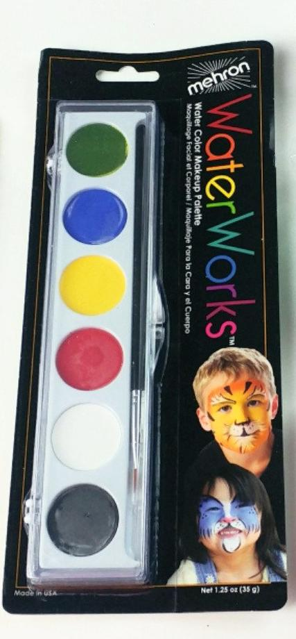Mehron Water Works Palette