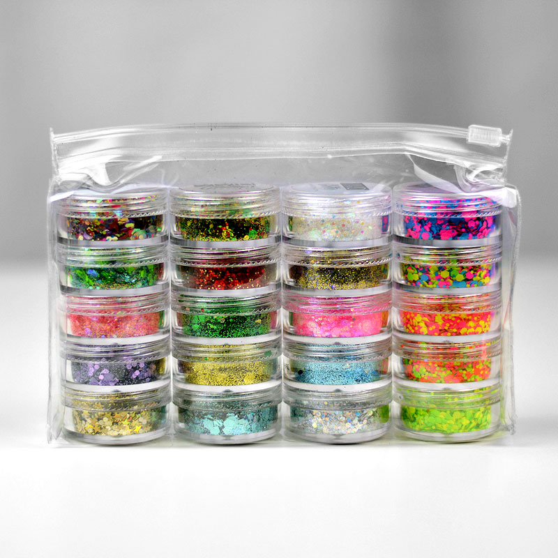 Chunky Glitter Stack Bundle (4 Stacks)