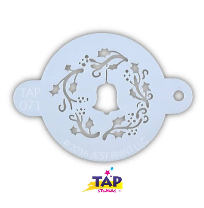 Face Painting Stencil Christmas Wreath