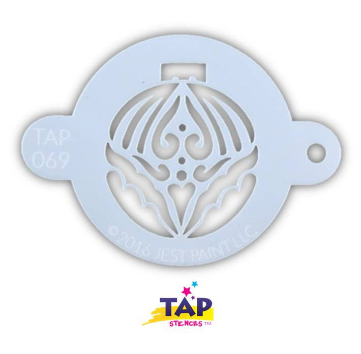 Face Painting Christmas Ornament Stencil