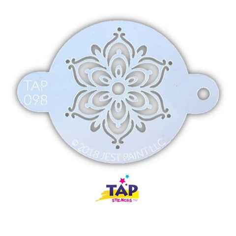 Henna Fancy Flower - Tap Face Painting Stencil