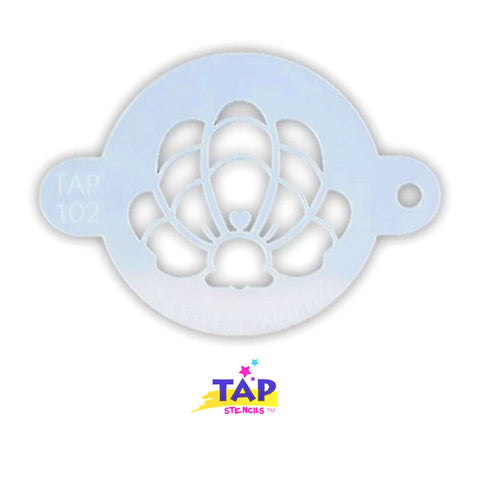 Tap Face Painting Stencil - Mermaid Crown Clam Shell