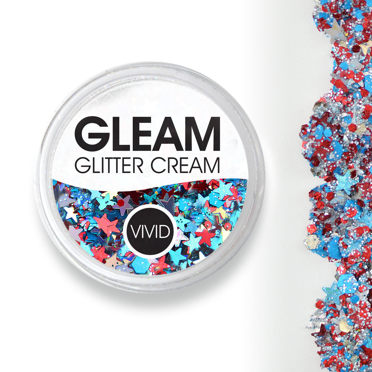 Red White & Boom - Gleam Chunky Glitter Cream