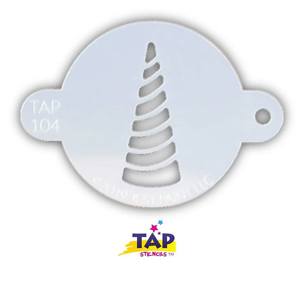 Tap Face Painting Stencil - Unicorn Horn Swirl