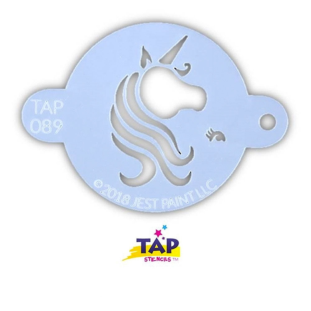 Tap Face Painting Stencil - Pretty Unicorn